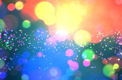 Abstract colorful blurred lights for festive background. Design such as christmas or other seasonal holidays stock illustration
