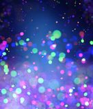 Abstract colorful blurred lights for festive background. Design such as christmas or other seasonal holidays,3d illustration royalty free illustration