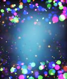Abstract colorful blurred lights for festive background. Design such as christmas or other seasonal holidays,3d illustration stock illustration