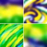 Abstract colorful blurred vector backgrounds. Set 24 Royalty Free Stock Photo