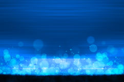 Abstract colorful bokeh on blue background Stock Photo