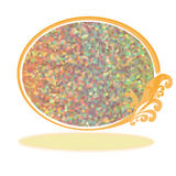 Abstract colorful bokeh ellipse on white background Royalty Free Stock Image