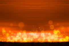 Abstract colorful bokeh on orange background. Colorful bokeh on orange background stock illustration