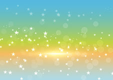 Abstract colorful bokeh with star background. Vector illustratio. N design Stock Images