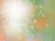 Abstract colorful bokeh with sunlight Stock Photo