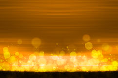 Abstract colorful bokeh on yellow background. Colorful bokeh on yellow background Stock Photo
