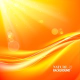 Abstract colorful bokeh on yellow background. Vector illustration, contains transparencies, gradients and effects Royalty Free Stock Images