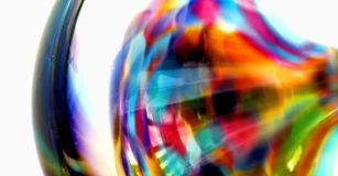 Abstract - Colorful Bottle. Isolated side view of a glass bottle stock photography