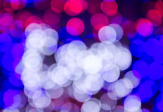 Abstract colorful bright bokeh background of Christmaslight Stock Photography