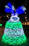 Abstract colorful bright bokeh background of Christmaslight Stock Images