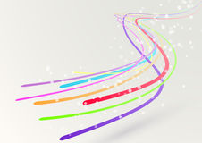 Abstract colorful bright streaming swoosh lines Royalty Free Stock Photos