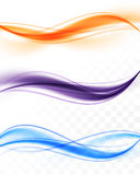 Abstract colorful bright wavy lines collection Stock Photography