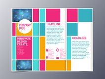 Abstract colorful brochure design template vector tri-fold Stock Photo