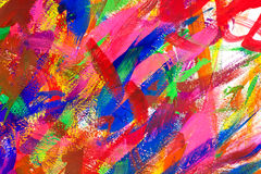 Abstract colorful brush strokes background Stock Image