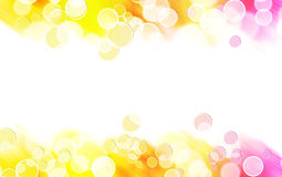 Abstract Colorful Bubble Border Royalty Free Stock Photos