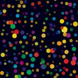 Abstract colorful bubble pattern on dark background. Vector seamless illustration. Royalty Free Stock Photography