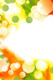 Abstract colorful bubble shape border Stock Photography