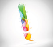 Abstract colorful bubble talk Stock Image