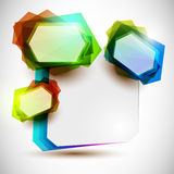 Abstract colorful bubbles. Abstract vector funny colorful bubbles for speech Royalty Free Stock Photos