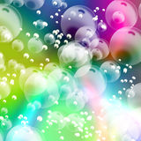 Abstract colorful bubbles background Royalty Free Stock Images