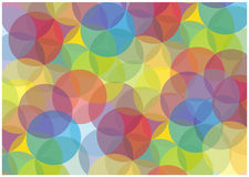 Abstract colorful bubbles background. Color abstract background with transparent bubbles Stock Image