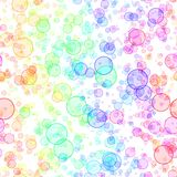 Abstract colorful bubbles.  Seamless illustration. Royalty Free Stock Photography
