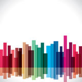 Abstract colorful building block Royalty Free Stock Photo
