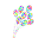 Abstract colorful  Bunch of Balloons vector Royalty Free Stock Image