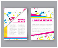 Abstract colorful business card set, corporate cover collection, brochure title sheet. Vector Stock Photos