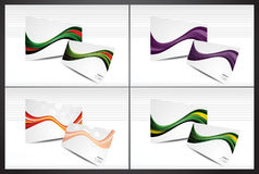 Abstract colorful business card set1 Royalty Free Stock Photo