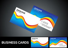 Abstract colorful business card template Royalty Free Stock Photo