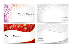Abstract colorful business cards template Royalty Free Stock Image