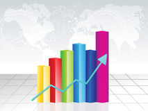 Abstract colorful business chart background Stock Image