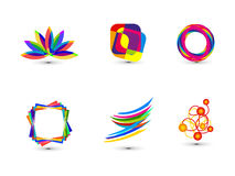 Abstract colorful business icon template Royalty Free Stock Photo
