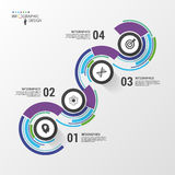 Abstract colorful business path. Timeline infographic template. Vector Royalty Free Stock Image