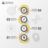 Abstract colorful business path. Timeline infographic template. Vector Royalty Free Stock Photography