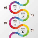 Abstract colorful business path. Timeline infographic template. Vector Stock Images