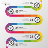 Abstract colorful business path. Timeline infographic template. Vector illustration Stock Images