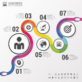 Abstract colorful business path. Timeline infographic template. Vector Stock Photo