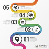 Abstract colorful business path. Timeline infographic template Royalty Free Stock Photo