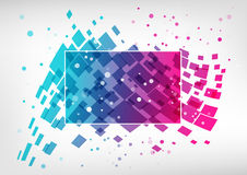 Abstract colorful business template. Geometric splash element, blue and pink on white background Royalty Free Stock Photos