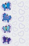 Abstract colorful butterflies Stock Image