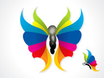 Abstract colorful butterfly Stock Images