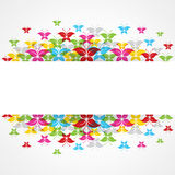 Abstract colorful butterfly design with copy-space Stock Images