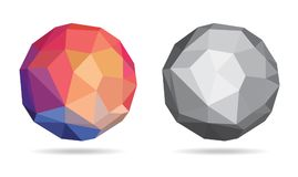 Abstract Colorful & BW Sphere / Globe - Vector Illustration Royalty Free Stock Photography