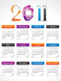 Abstract colorful calendar. Vector illustration Royalty Free Stock Images