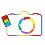 Abstract colorful camera. Royalty Free Stock Photo