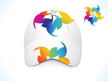 Abstract colorful cap template Stock Images