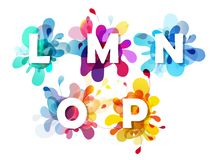 Abstract colorful capital letters set. Vector art Royalty Free Stock Photo