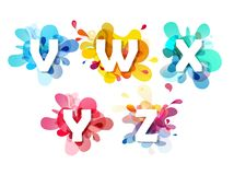Abstract colorful capital letters set. Vector art Stock Photo